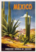 Vintage Travel Poster Mexico Direccion General de Turismo